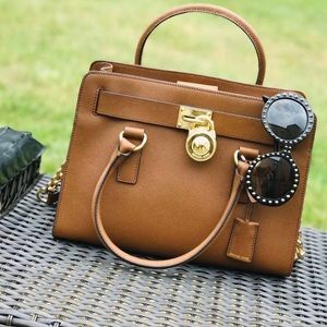 Michael Kors Hamilton EW leather satchel luggage